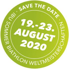 Bild: SAVE THE DATE   IBU Biathlon Sommer-WM in Ruhpolding (19.-23.08.2020)
