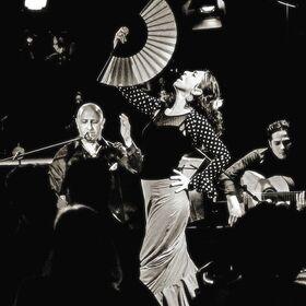 Bild: Suzann Bustani mit dem Trio Flamenco