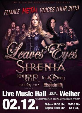 Bild: Leaves Eyes, Sirenia, Forever Still & Supports