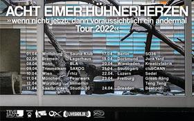 ACHT EIMER HÜHNERHERZEN - Präsentiert von Destiny Tourbooking