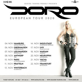 Bild: DORO - European Tour 2020 - with Special Guest