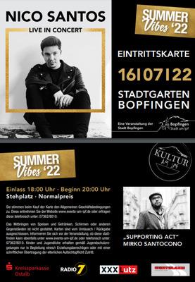 NICO SANTOS - Live On Tour – Summer 2021
