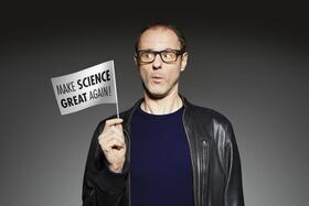 "Bild: Vince Ebert - mit ""Make Science Great Again!"""
