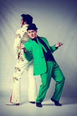 Bild: Bernd Kohlhepp und Nils Strassburg - Elvis trifft Elvis