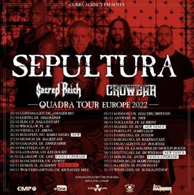 SEPULTURA - QUADRA TOUR - EUROPE 2022