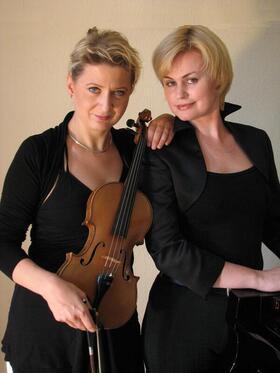 Bild: Bad Saarower Kammermusik mit Irene Wittermann (Klavier), Tanja Schwarze (Violine) -