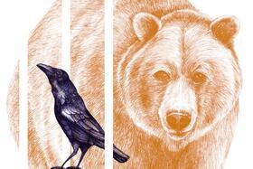 Bild: Krähe und Bär // 8+ Jahren