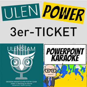 Bild: 3er-Ticket UlenPower (gültig für 3 Ulenslams und/oder Powerpoint Karaoke nach Wahl bis 31.12.2020)
