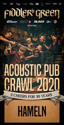 Bild: Fiddler´s Green - Acoustic Pub Crawl 2020 – 3 CHEERS FOR 30 YEARS!