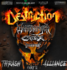Bild: DESTRUCTION / WARBRINGER / CRISIX / DOMINATION INC - Trash Alliance Tour - Part 2