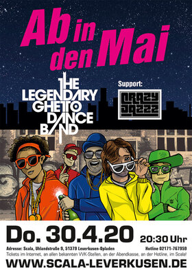THE LEGENDARY GHETTO DANCE BAND - support: CRAZY JAZZZ