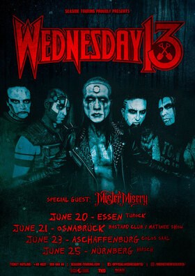 Bild: Wednesday 13 - special guests: Mister Misery