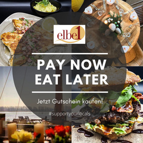Bild: Pay now - eat later - #supportyourlocals #elbe1