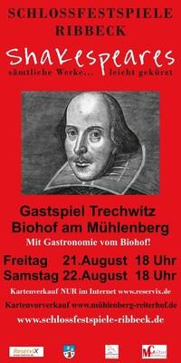 Bild: Shakespeares sämtliche Werke... leicht gekürzt! - Gastspiel Biohof am Mühlenberg Trechwitz