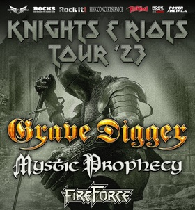 """GRAVE DIGGER - 40 Years Tour 2022 - special guest """"MOTORJESUS"""""""