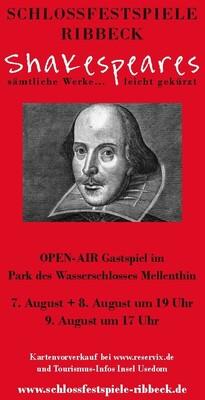 Bild: Shakespeares sämtliche Werke... leicht gekürzt! - Gastspiel Wasserschloss Mellenthin