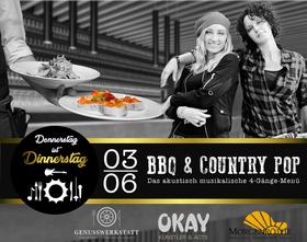 Bild: Donnerstag ist Dinnerstag - Dinner-Show BBQ & Country Pop