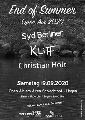 End of Summer - Open Air mit  Syd Berliner, Kliff & Christian Holt