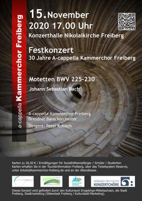 Bild: Festkonzert  - 30 Jahre A-cappella Kammerchor Freiberg