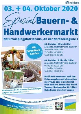 Bild: Bauern- und Handwerkermarkt 2020 - Bauern- und Handwerkermarkt 03.10.2020 Tageskarte