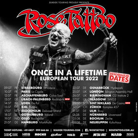 Bild: ROSE TATTOO + Special Guest - ONCE IN A LIFETIME European Tour 2021