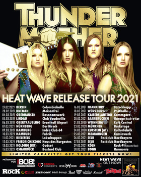 Thundermother - Heat Wave Release Tour 2021