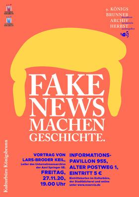 """Bild: 9. Königsbrunner Archivherbst - Vortrag """"Fake News machen Geschichte – Geschichten aus dem Unternehmensarchiv Axel Springer SE."""" von Lars-Broder Keil"""