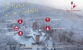 Bild: Winterzauber auf der Burg Frankenstein - Winterzauber auf der Burg Frankenstein