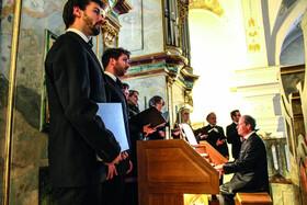 Bild: Schütz Musikalische Exequien - St.PeterConsort; Barockinstrumente