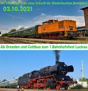 Bild: Mit Volldampf in die neue Zukunft der Niederlausitzer Eisenbahn!