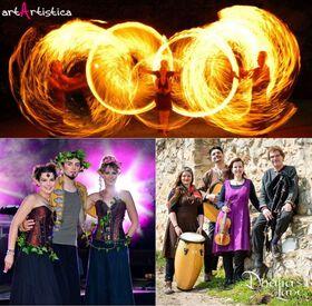 Irische Feuershow