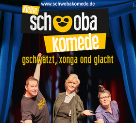 """Bild: Kultur im Freien - Kleine Schwobakomede: """"Xonga, gschwätzt ond glacht!"""" mit Friedel Kehrer, Elsbeth Gscheidle & Markus Zipperle"""