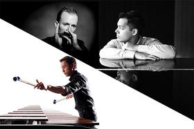 Bild: Benyamin Nuss (Klavier), Konstantin Reinfeld (Mundharmonika) und Fumito Nunoya (Marimbaphon) - Von Klassik bis Tango