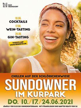 Bild: Sundowner im Kurpark mit sanften BEATS vom DJ - mit GIN-Tasting - inkl. Welcome Drink