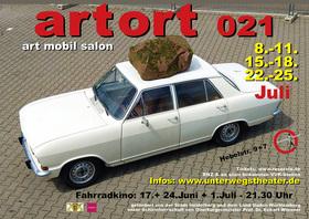ArtOrt021 - art mobil salon - cabriolé - Kunst-Parkour im Autohaus