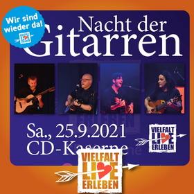 Bild: Kultur im Innenhof: Nacht der Gitarren Zusatzkonzert - mit Christos Mamalitsidis, Kai Thomsen, Jens Eckhoff und Kosho