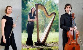 Bild: Klassik Brunch mit der Neuen Philharmonie Frankfurt - Romantische Klänge mit Harfe, Flöte & Cello