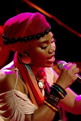 Bild: Folk im Park, Yvonne Mwale und Band: African Soul Music.