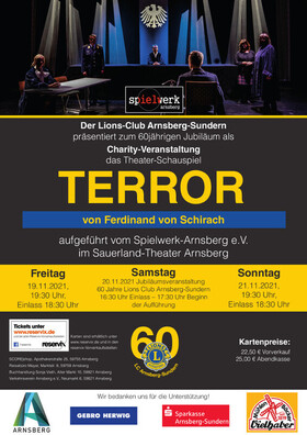 Bild: spielwerk-arnsberg e.V. - TERROR von Ferdinand von Schirach / Charity-Veranstaltung des Lions Club Arnsberg-Sundern anlässlich des 60-jährigen Jubiläums