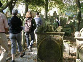 Bild: Führung zum und über den Jüdischen Friedhof - Davidstern und Segenshände