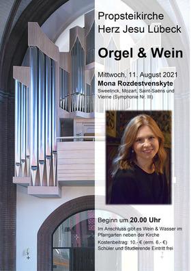 Bild: Orgel & Wein - 2. Konzert mit Mona Rozdestvenskyte (Bremen)