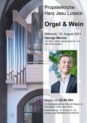 Bild: Orgel & Wein - 3. Konzert mit George Warren (Köln)