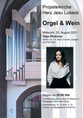 Bild: Orgel & Wein - 4. Konzert mit Olga Zhukova (Herford)