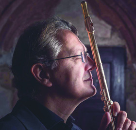 Bild: Giuseppe Nova – Flöte und Elena Piva – Harfe / 2. Aufführung