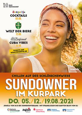 Bild: Sundowner im Kurpark mit sanften BEATS vom DJ - Die Welt der Biere - inkl. Welcome Drink