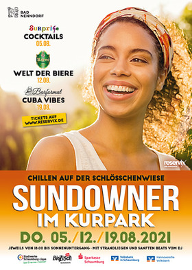 Bild: Sundowner im Kurpark mit sanften BEATS vom DJ - COCKTAILS - inkl. Welcome Drink