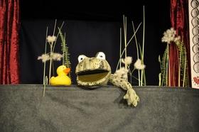 Bild: Das Krokodil im Entenweiher
