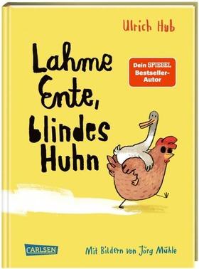 """Bild: Geflügel auf Reisen!  Ulrich Hub liest stellt sein neues Kinderbuch """"Lahme Ente, blindes Huhn"""" vor."""