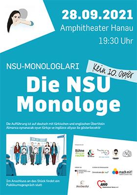 Bild: Die NSU-Monologe - NSU-Monologlari - Die Bühne für Menschenrechte zu Gast im Amphitheater Hanau