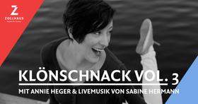 Bild: KlönSchnack Vol. 3 mit Annie Heger & Livemusik von Sabine Hermann